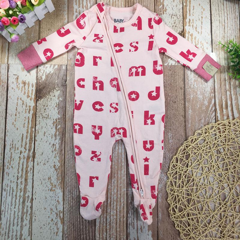 Baby Girl Kids Boy Infant zip through Romper Jumpsuit Bodysuit Outfit Cotton