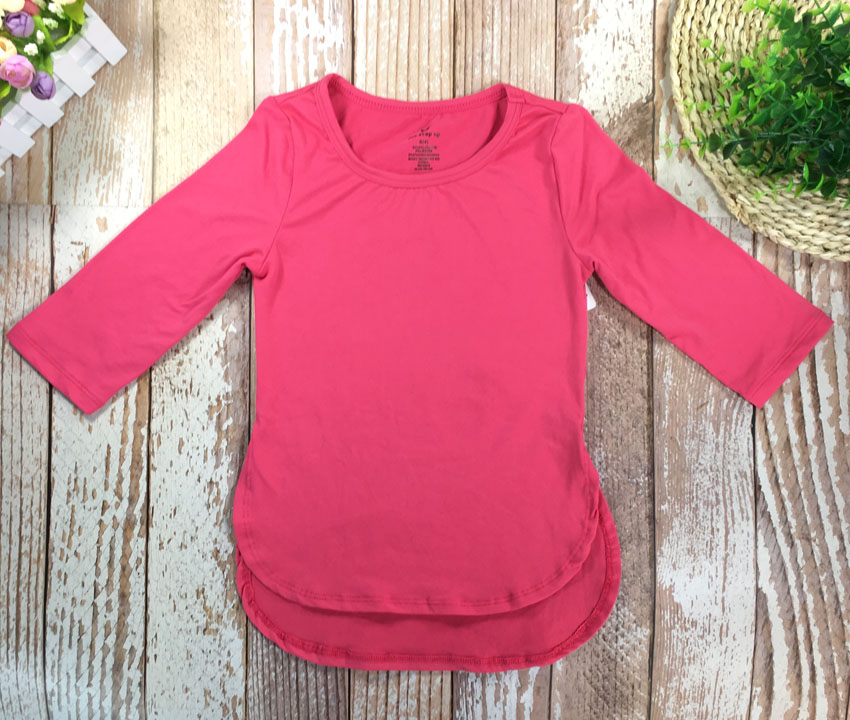 Kid Girls T-shirt Long Sleeve sport  Outdoor Tops Merino Wool Clothes Size2T-7T