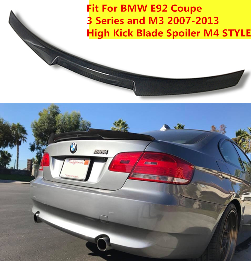 Cuztom Tuning for 2014-2018 BMW F32 4 Series 2 Door Coupe P Sytle HIGH Kick Carbon Fiber Trunk Spoiler Wing