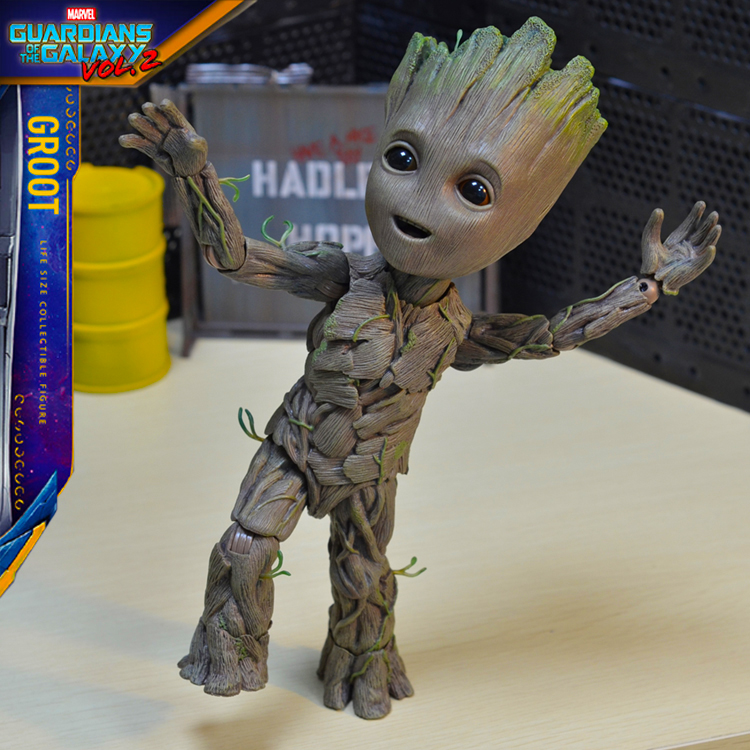 Life Size BABY GROOT 1:1 Figure 25cm Guardians of the Galaxy Vol 2 KOs HOT TOYS