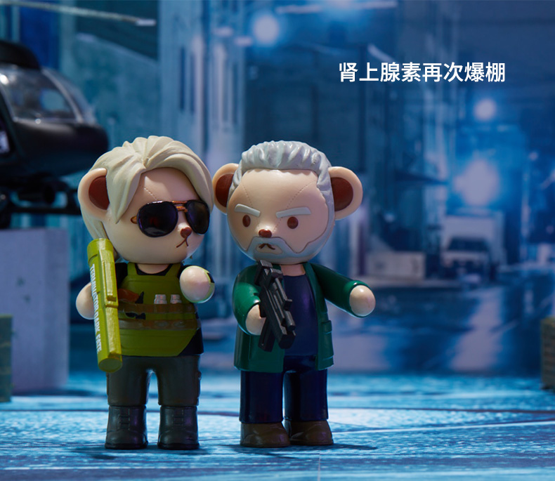 6PCS Terminator Dark Fate Teddy Bear Cos Figures Blind Box Exclusive Collection