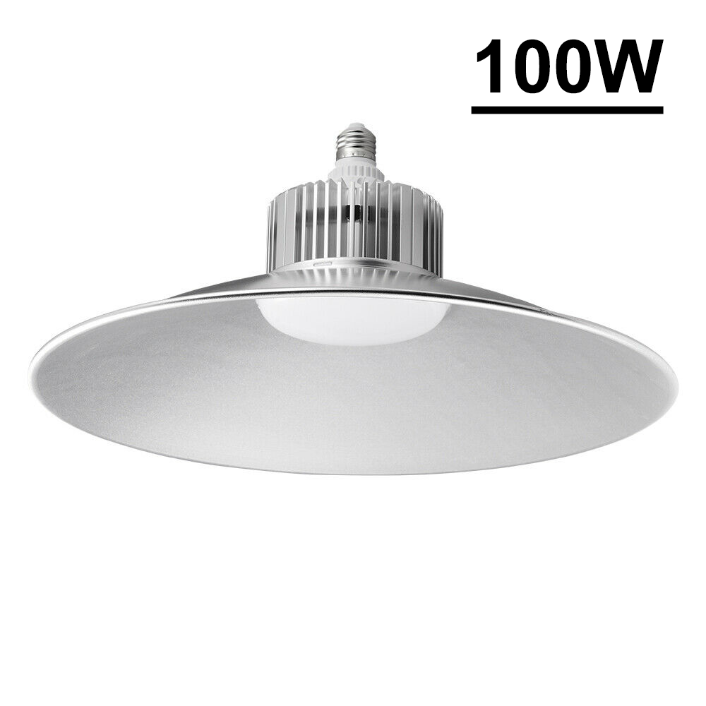 Details About 100w E27 Led High Low Bay Light Fixture Warehouse Gym Factory Shed Lamp