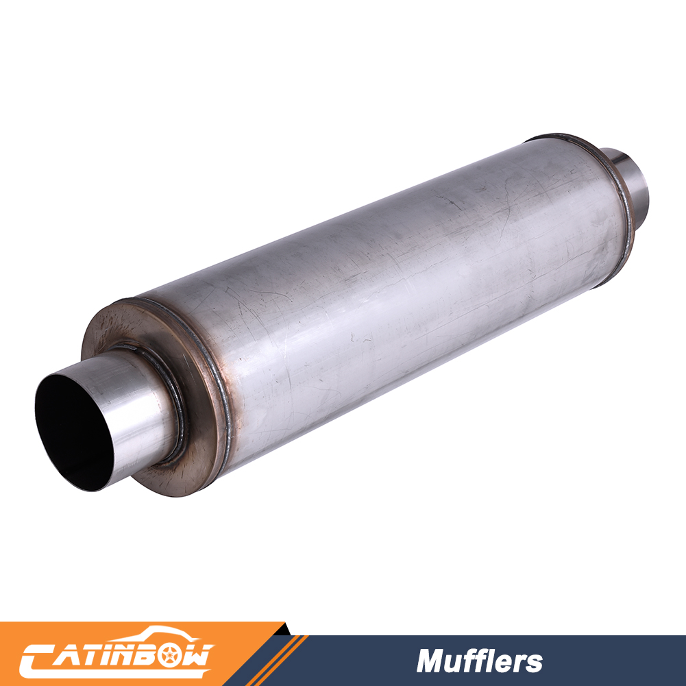 "Universal Aluminized Steel Diesel Performance Muffler 8/"" Tall 4/"" Inlet Outlet"
