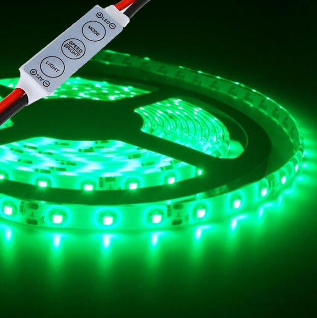 check out d5ab8 a6239 Details about Green LED Strip Lights IP65 Waterproof 12V 5M Led Boat Light  + Free Mini Dimmer