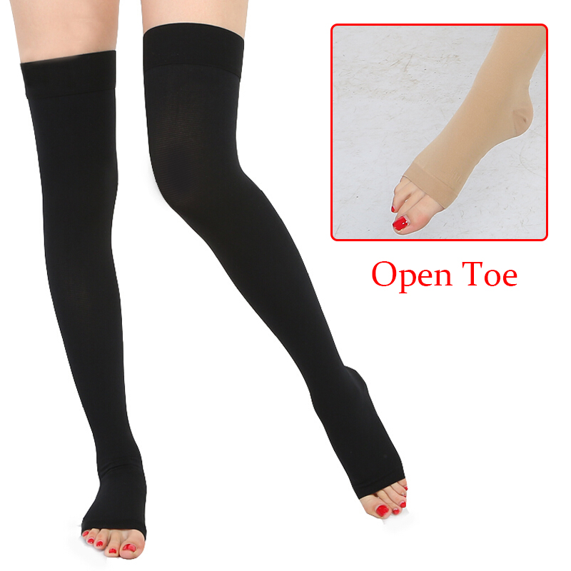 2e83cde76327bf Details about Compression Stockings w/Opening Medical Orthopedic Support  Hose Varicose Socks