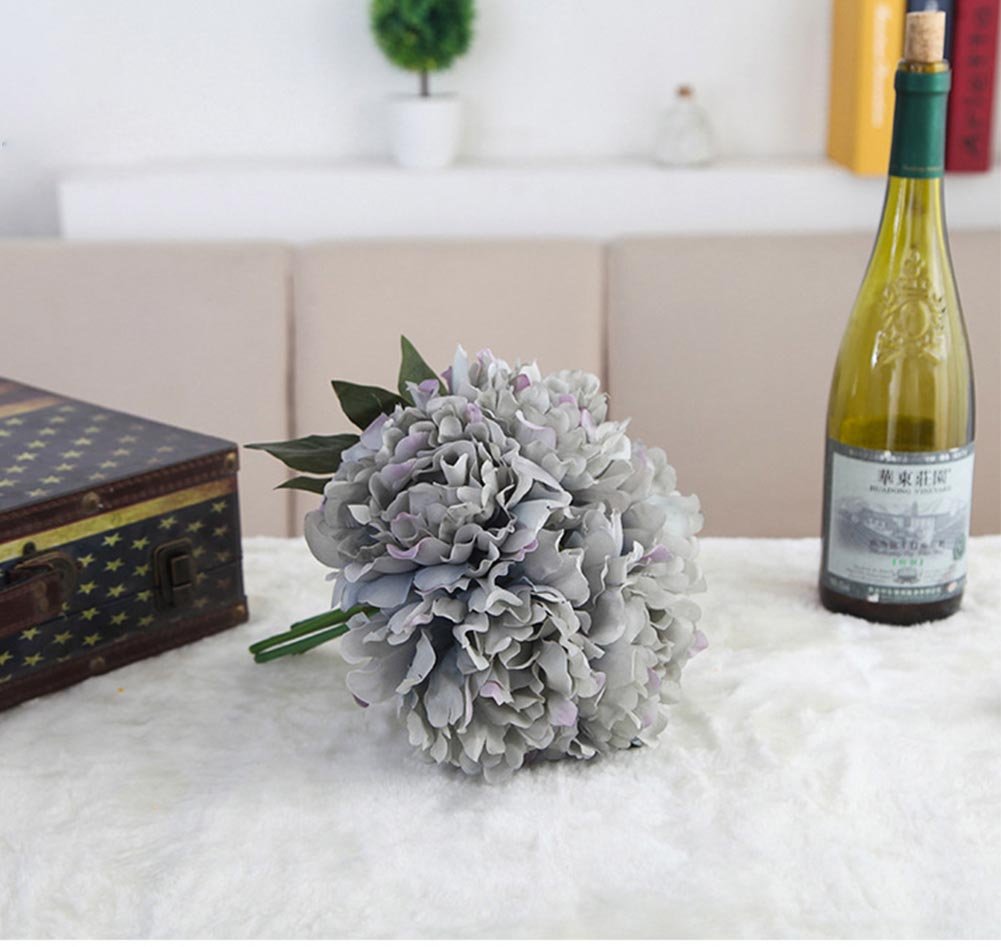 Charm Peony Silk Flower Bouquet Home Party Bridal Floral Party