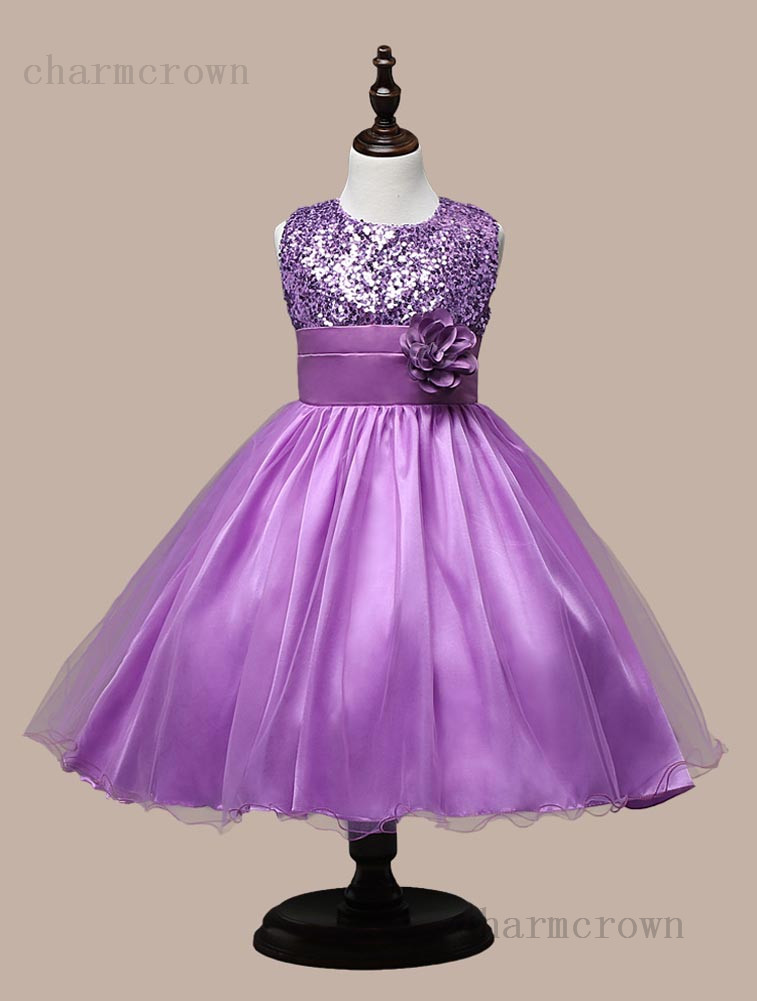 Pretty Kids Baby Princess Girls Party Sequins Dress Wedding ...