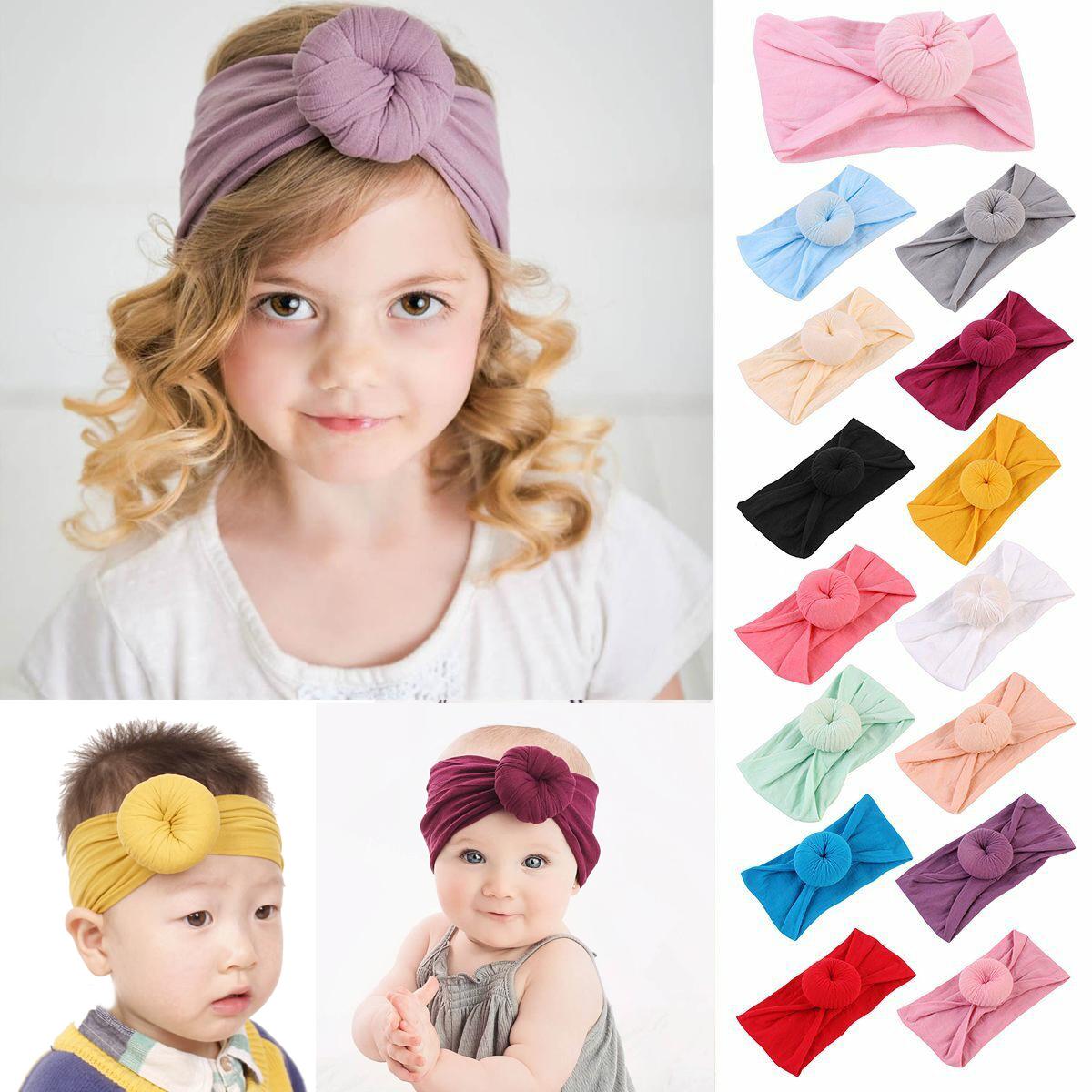Children Kids Girls Baby Toddler Hair Bow Knot Headband Hair Band Headwear