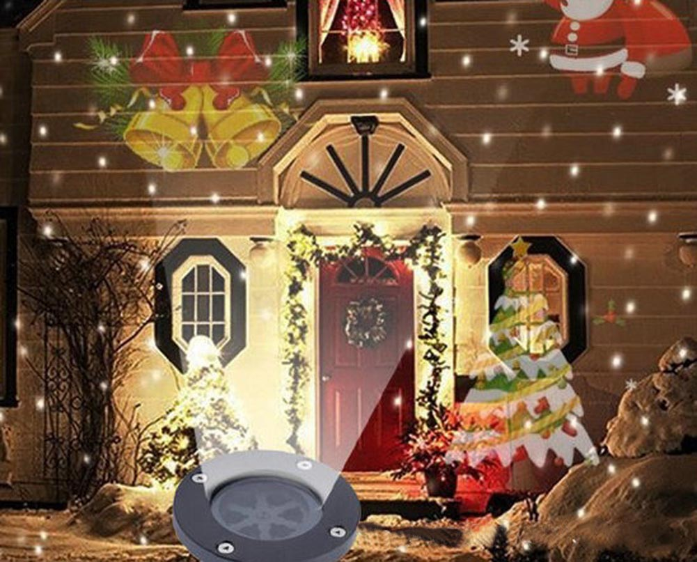 outdoor garden christmas light snowflake led laser projector