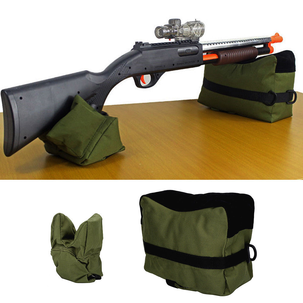 Shooting Range Sand Bag Set Rifle Gun Bench Rest Stand