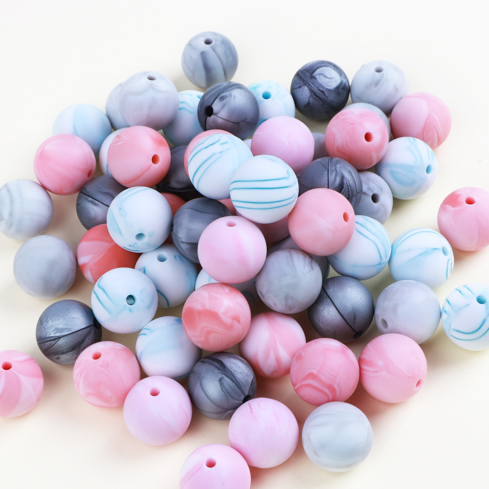 10PC//lot Chewable Silicone Loose Beads for Baby Pacifier Chain DIY Necklace