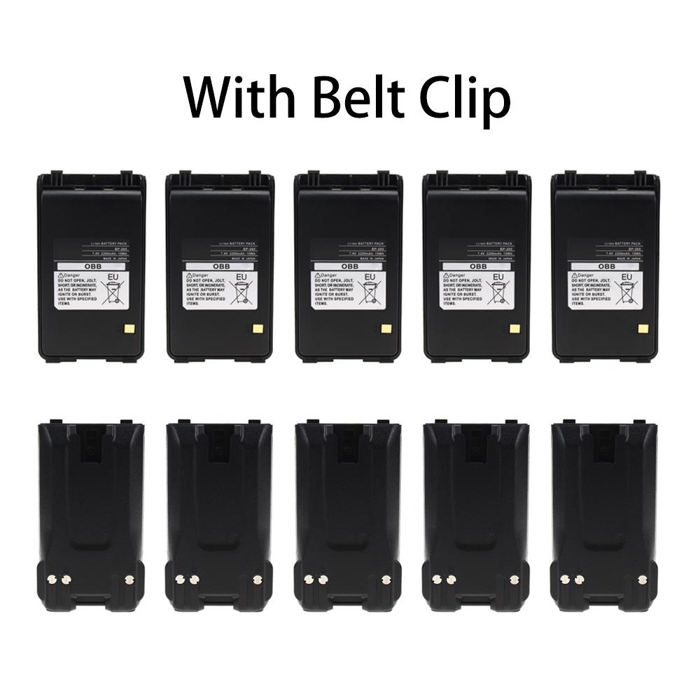 BP-265 BP264 Li-ion Battery 2200mAh For ICOM V80E F3001 F4001 F3101D T70A T70E