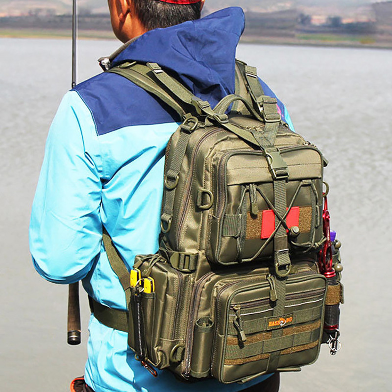 Large Water Resistant Fishing Tackle Backpack Fishing Tackle