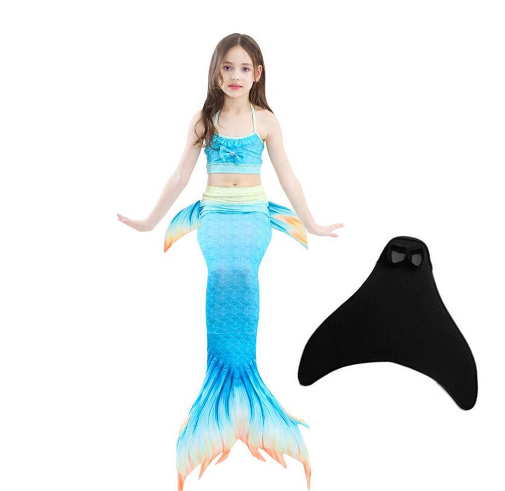 Women Girls Four Claws Mermaid Tail Swimwear Swimmable Swimming Costume Swimsuit