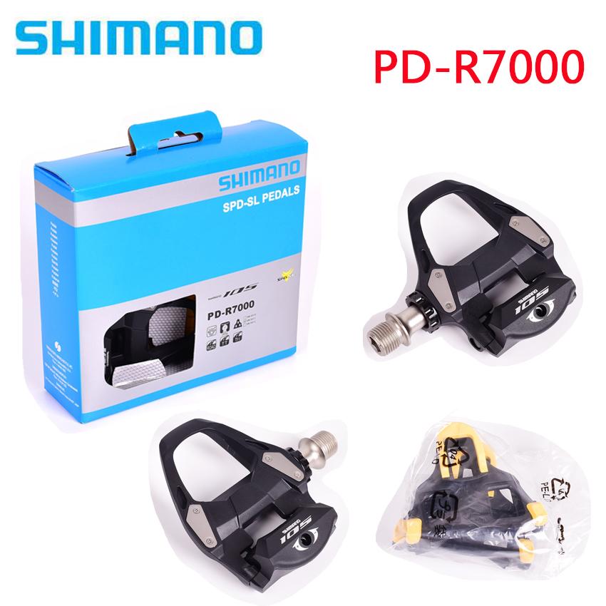 New Shimano 105 PD-R7000 SPD-SL Road Pedal Set w// SM-SH11 Cleats Black