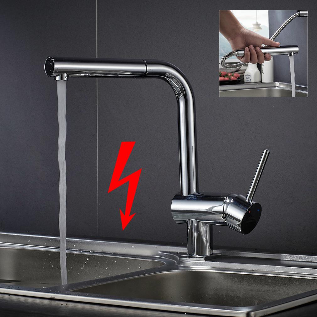 Niederdruck Wasserhahn Ausziehbar Küchenarmatur Mit Brause ...
