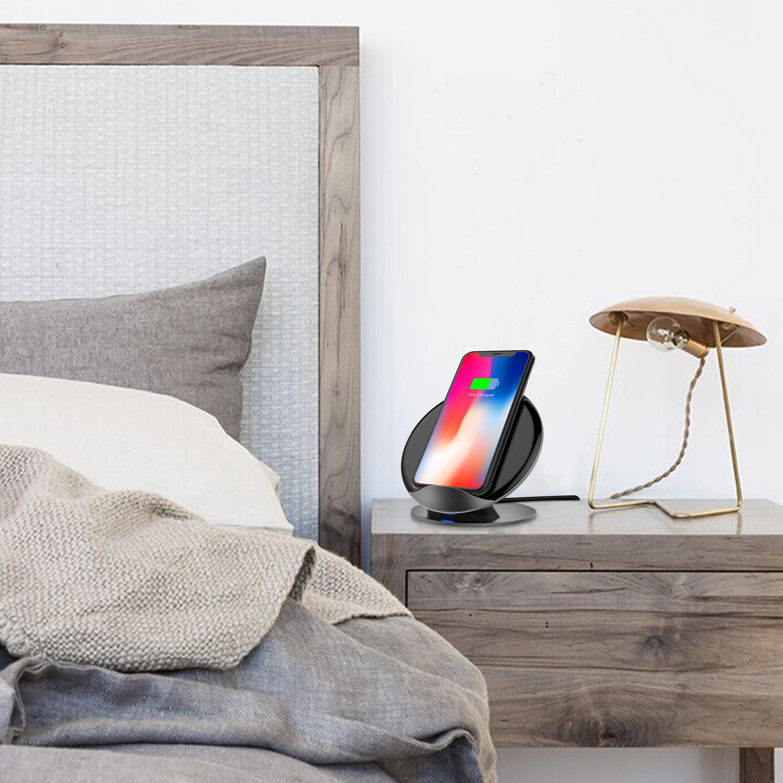 qi wireless induktive schnell ladestation ladeger t samsung s7 s8 s9 iphone dhl ebay. Black Bedroom Furniture Sets. Home Design Ideas