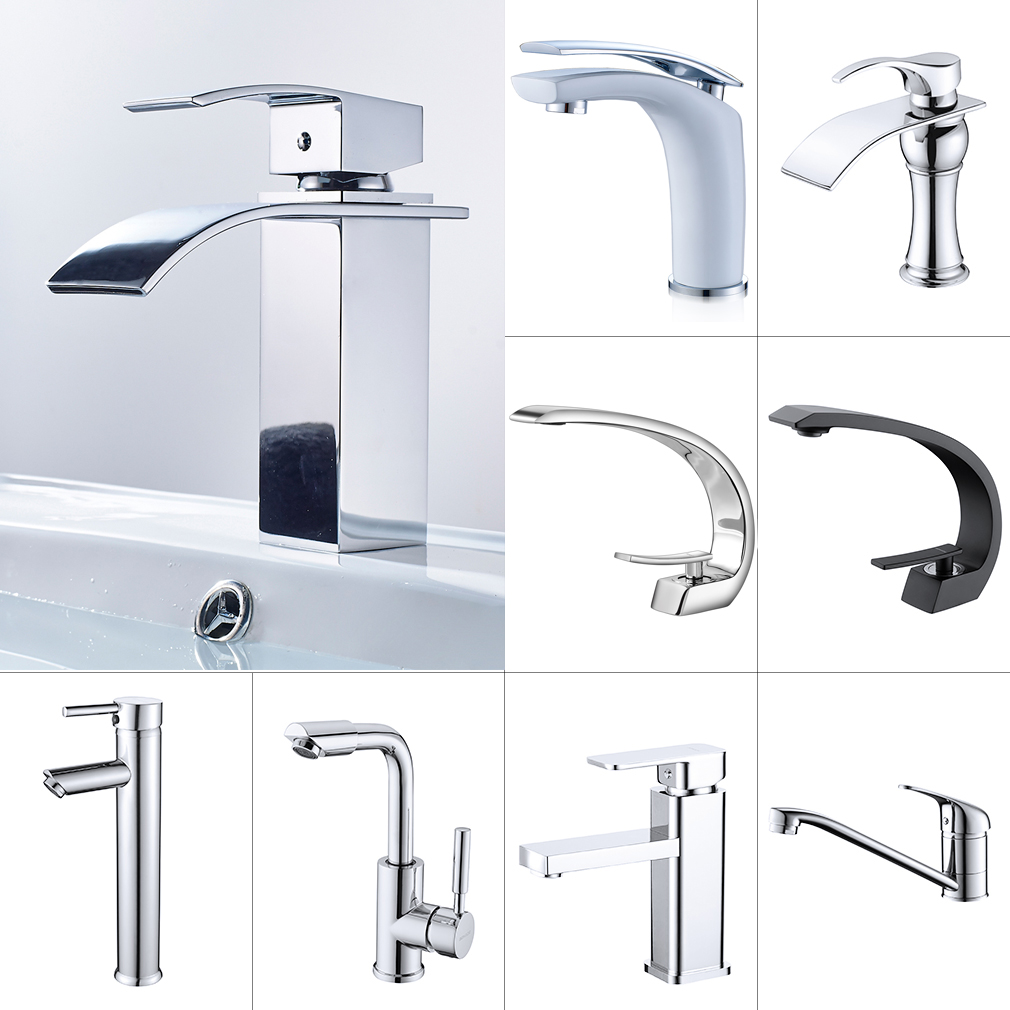 Wasserhahn Einhandmischer Bad Waschbeckenarmatur Mischbatterie Messing