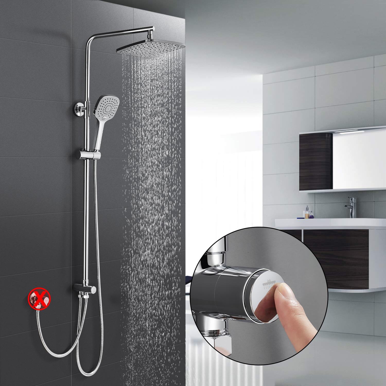 Duscharmatur Duschset Duschsystem Brausegarnitur Regendusche Duschstange DHL