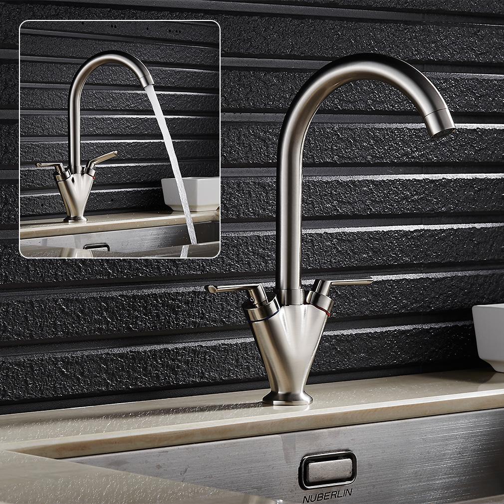 AuraLum Doppel-hebel Küche Spüle Mischbatterie Wasserhahn ...