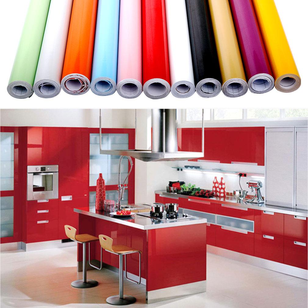klebefolie k che dekofolie m belfolie hochglanz schrankfolie wand folie 11 farbe ebay. Black Bedroom Furniture Sets. Home Design Ideas