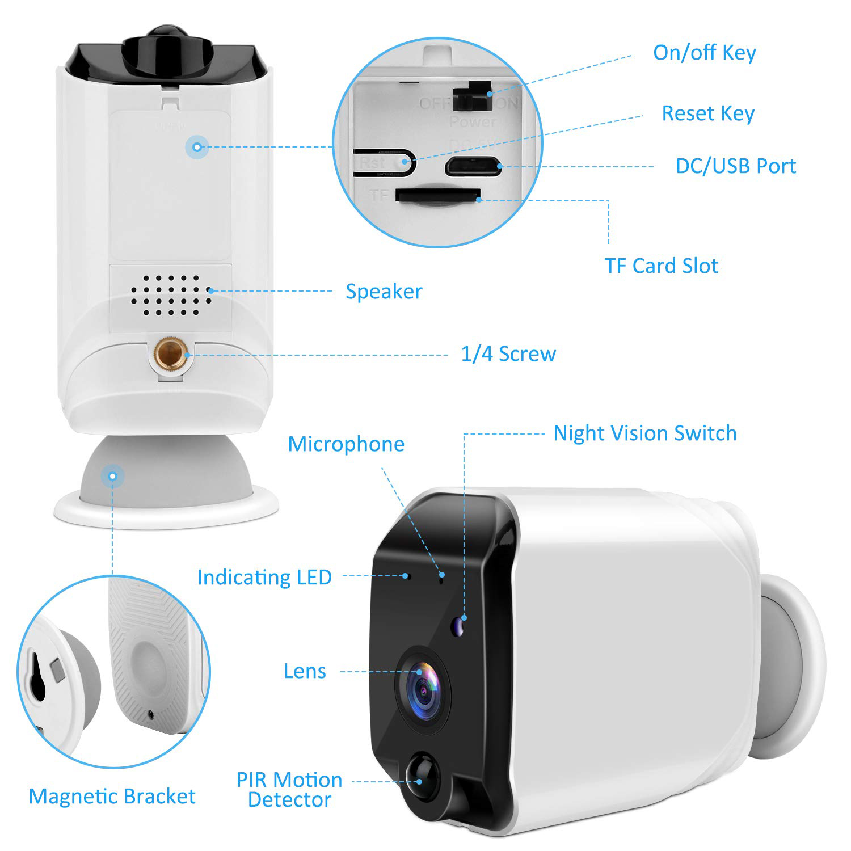 kabellos ip kamera akku cctv berwachungskamera au en webcam nachtsicht outdoor ebay. Black Bedroom Furniture Sets. Home Design Ideas