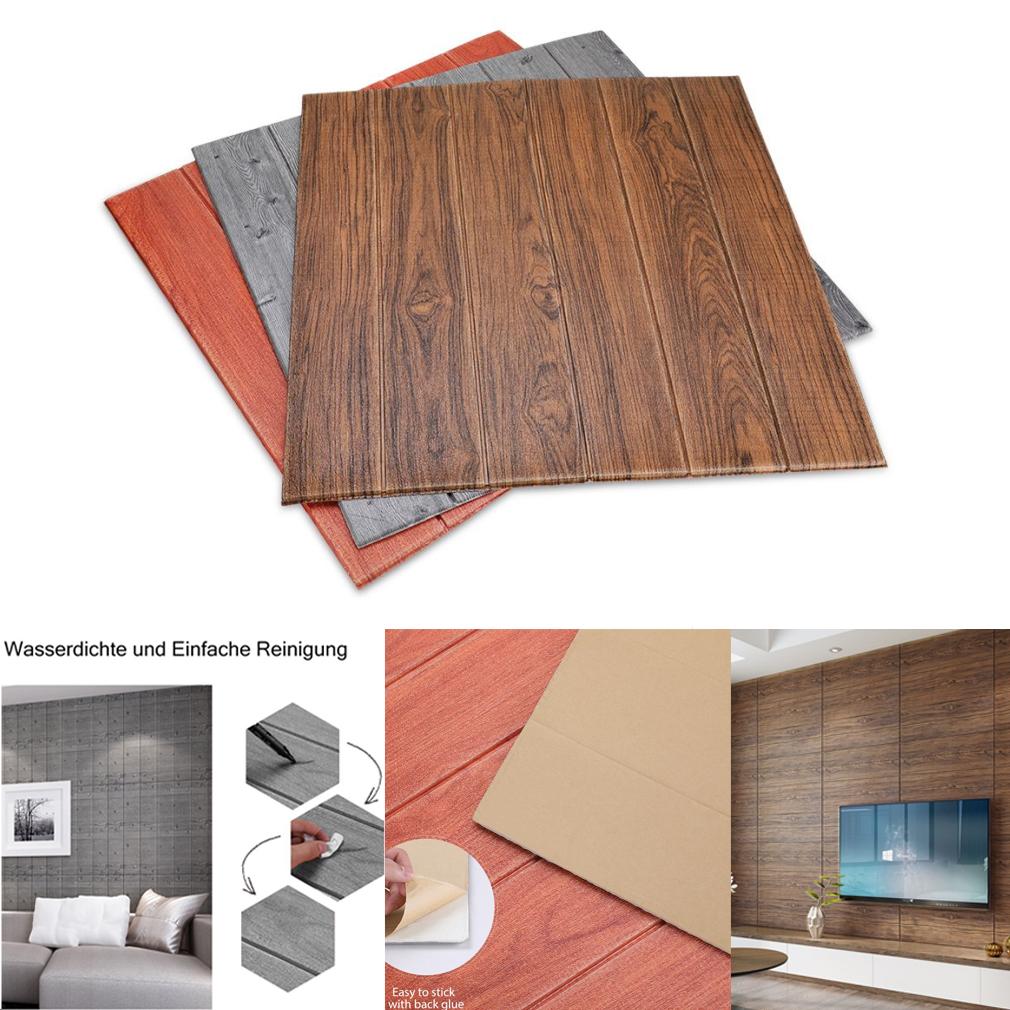 5x 3d Tapete Selbstklebend Holzoptik Wandpaneele Ziegelstein
