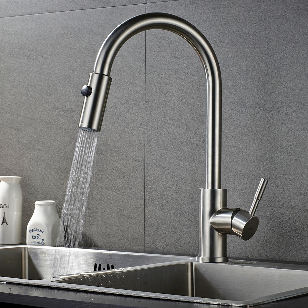Ausziehbar Wasserhahn Küchenarmatur Spüle Mischbatterie Brause ...