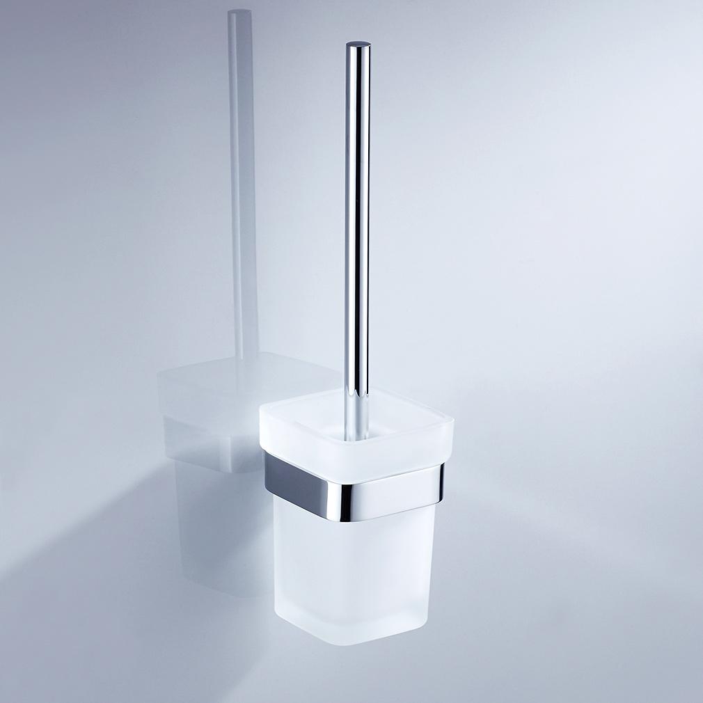 Edelstahl wc toilettenb rste klob rstenhalter garnitur klob rste wc b rste dhl ebay - Wc burste wandmontage ...