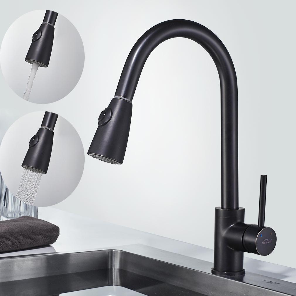 Ausziehbar Küchenarmatur Schwarz Spültisch Armatur Wasserhahn ...