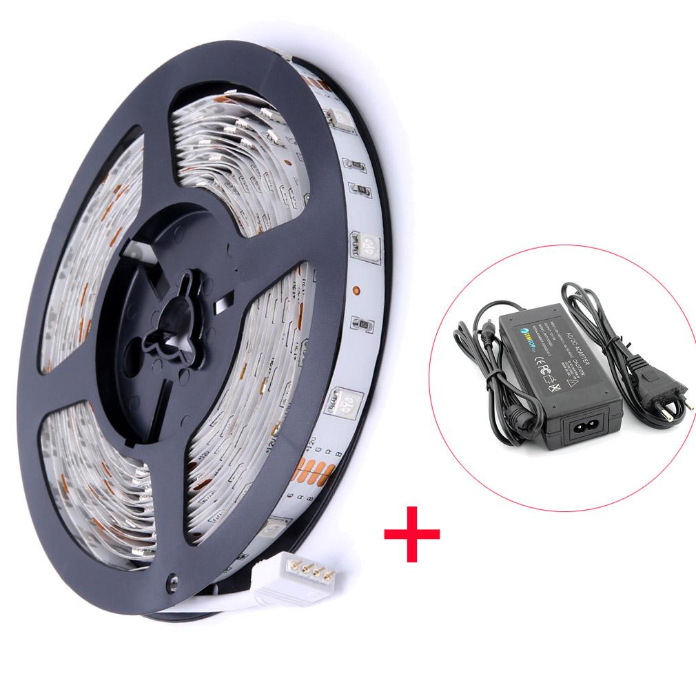 5m 50m rgb led streifen strip lichtleiste band schlauch trafo controller smd5050 ebay. Black Bedroom Furniture Sets. Home Design Ideas