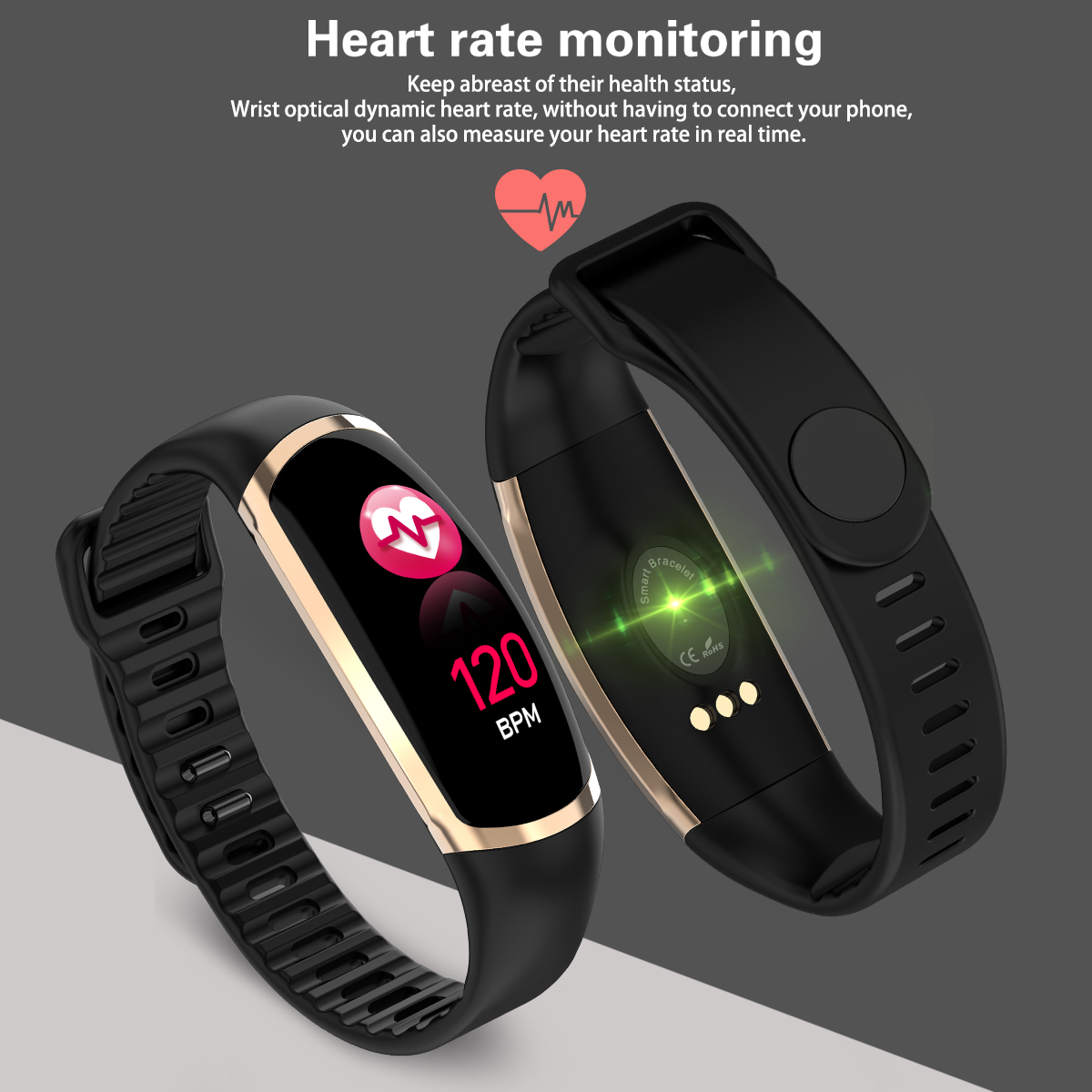 fitnessarmband smart fitness uhr tracker ip67 aktivit t. Black Bedroom Furniture Sets. Home Design Ideas