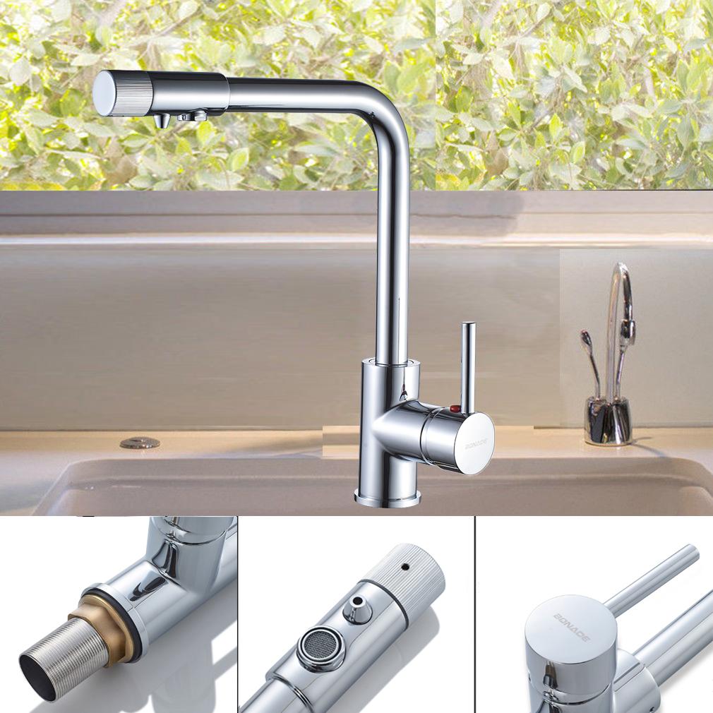 3 Wege Armatur Küchenarmatur Spültisch Wasserhahn für Osmose ...