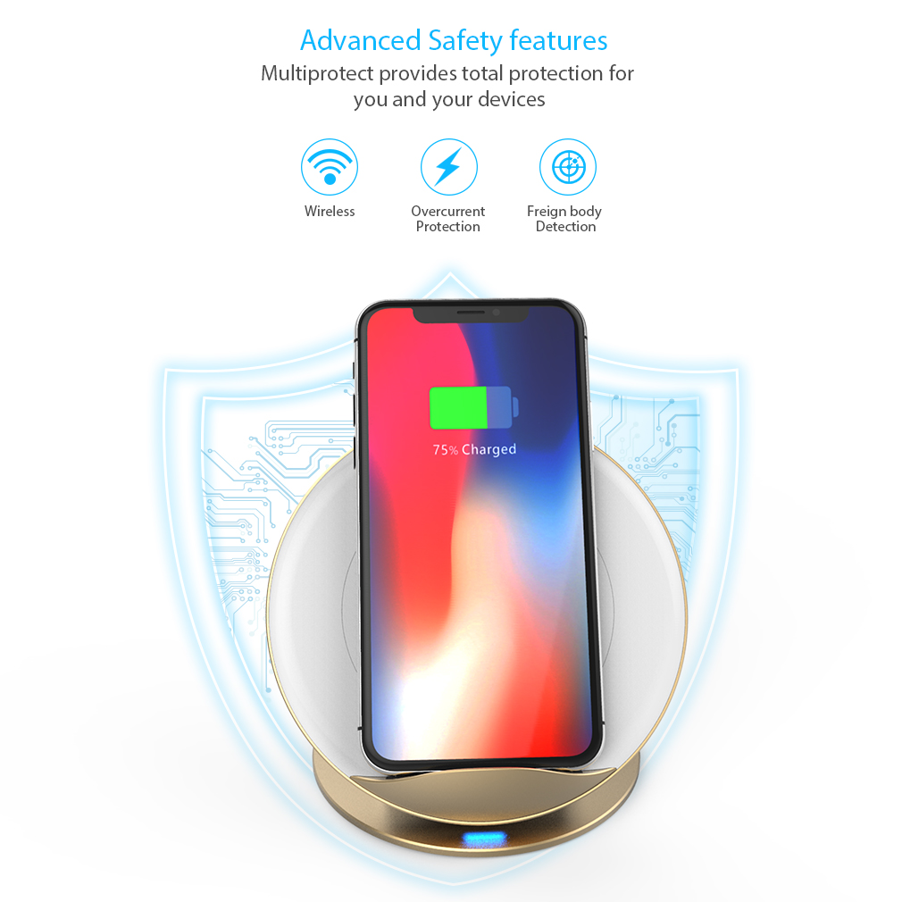 samsung wireless charger 10w induktive ladestation f r iphone x iphone xr xs max ebay. Black Bedroom Furniture Sets. Home Design Ideas