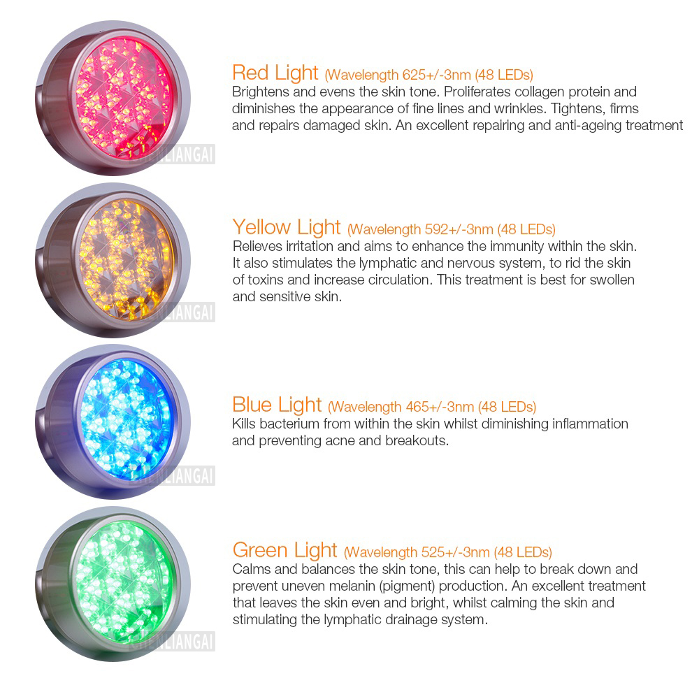 Home Use 4 Colors Led Light Therapy PDT Photon