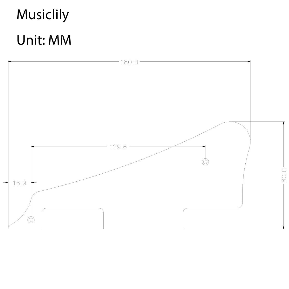 Musiclily Guitar Pvc Pickguard For Epiphone Lp Les Paul Standard Wiring Diagram Style Black New
