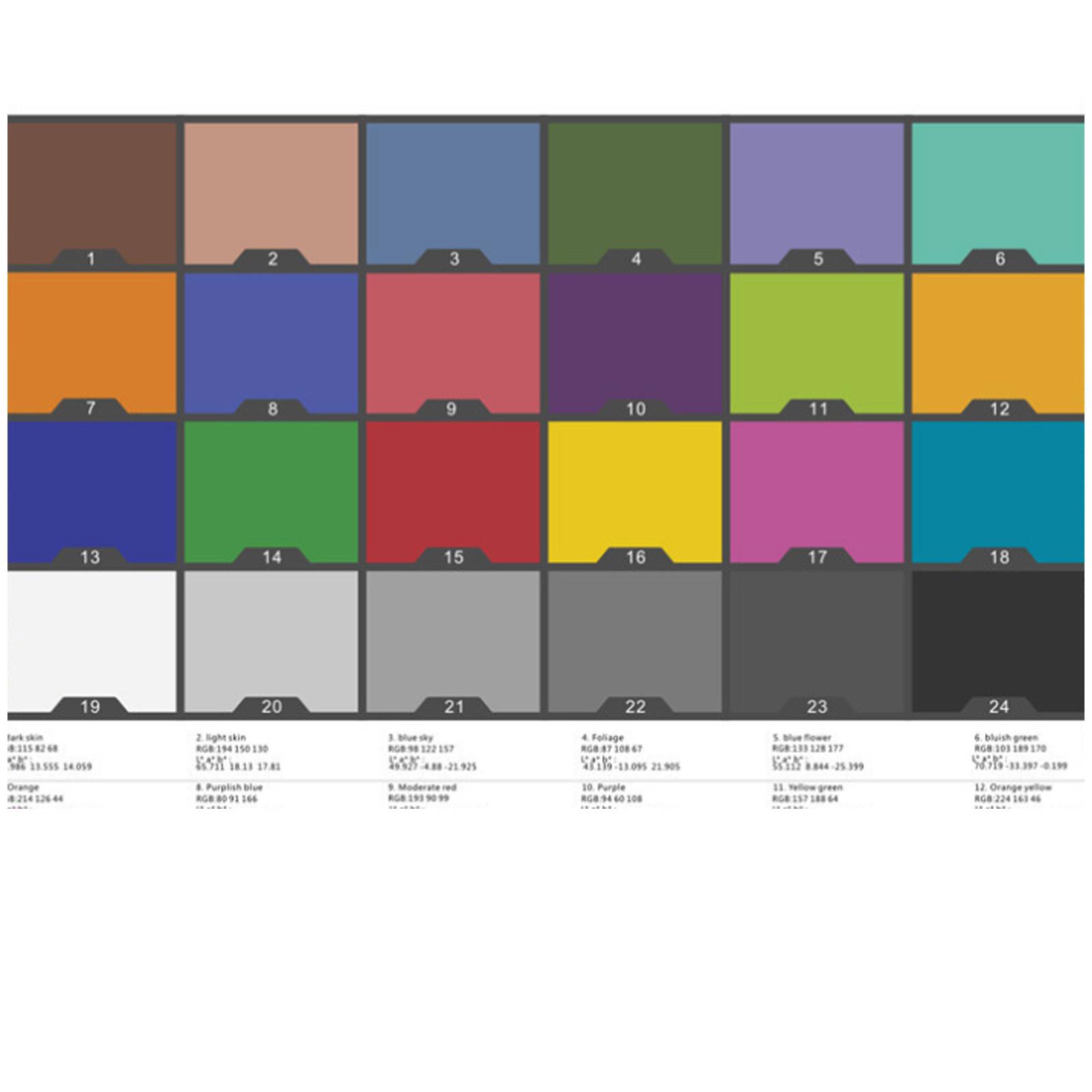 24 Parche Colores Color Passport clásico test de tarjeta de balance de blancos para Munsell caliente