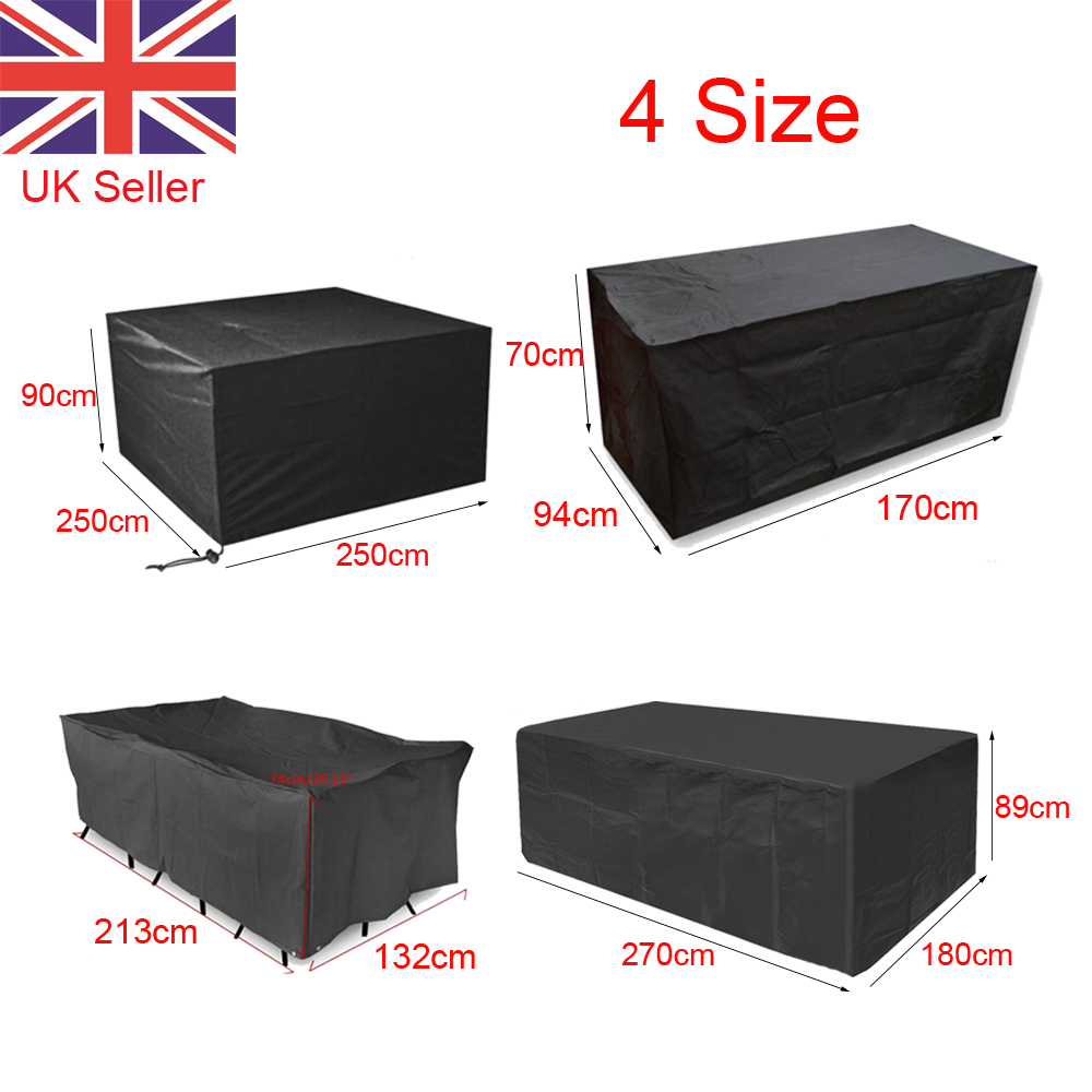 GARDEN PATIO FURNITURE SET COVER WATERPROOF COVERS RATTAN TABLE CUBE FUL