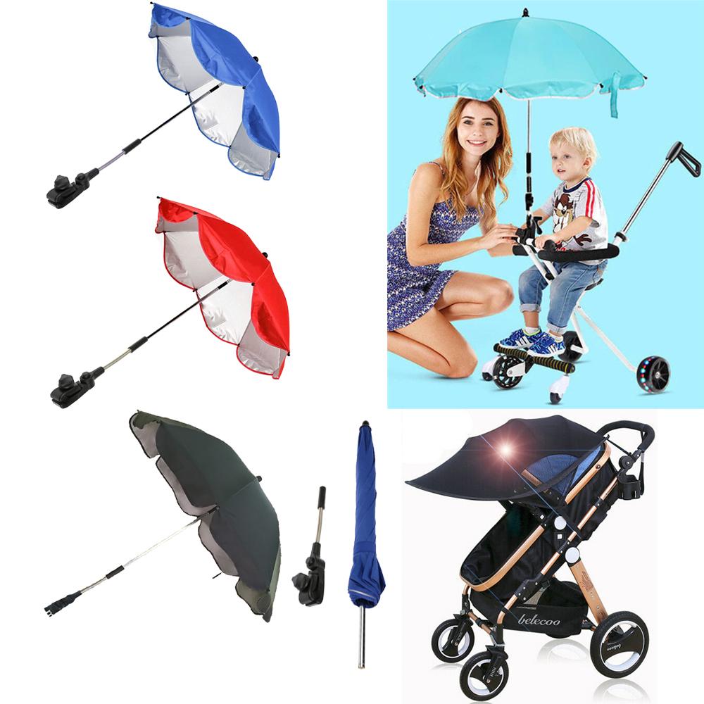 Baby Parasol Universal Sun Umbrella Shade Maker Canopy For Pushchair Pram Buggy