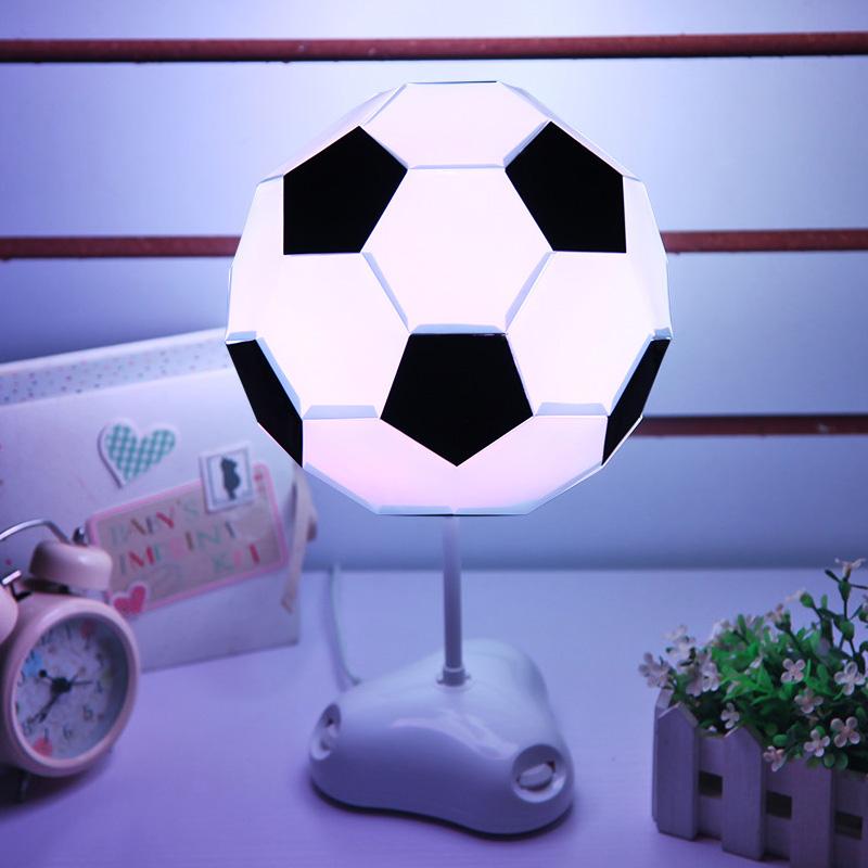 Charming Color Change USB LED Desktop Table DIY Football Lamp Night Light Kid Gift UK