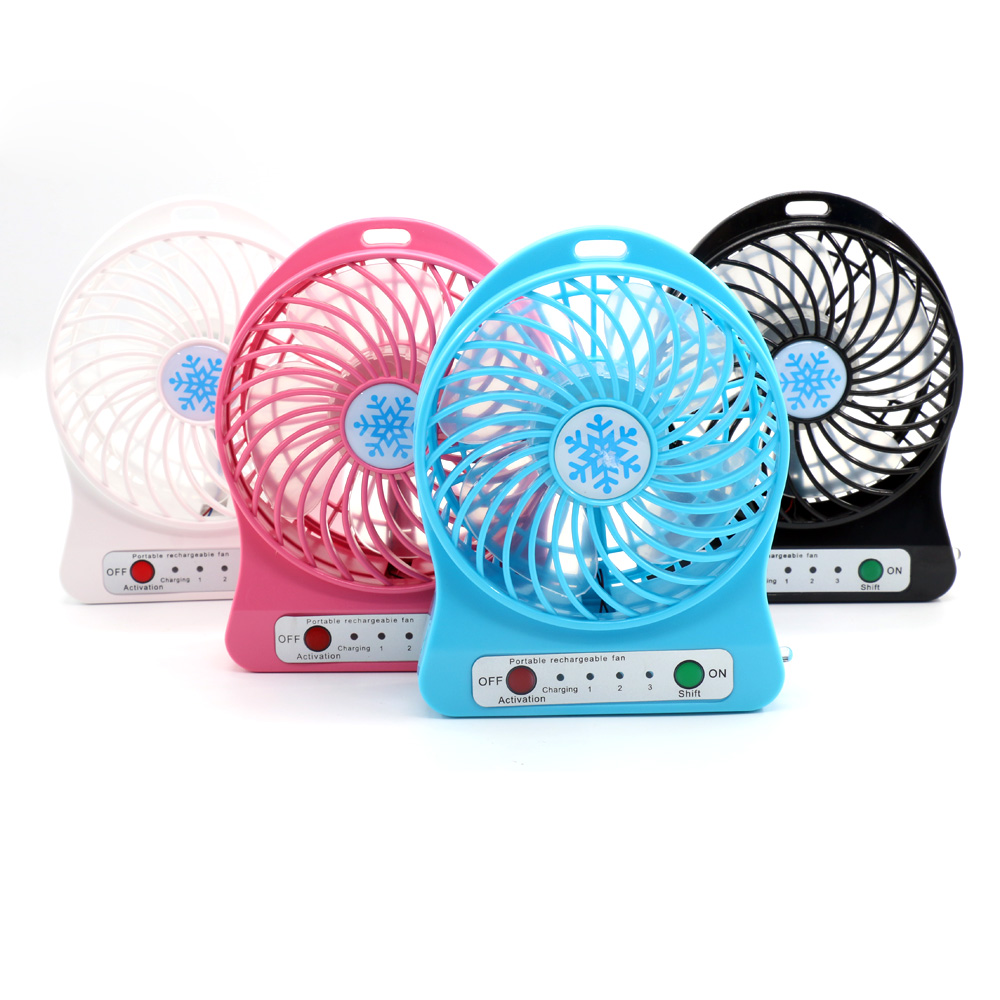 Cooling Rechargeable USB Humidity Cooler LED Rechargeable Mini Desk Fan