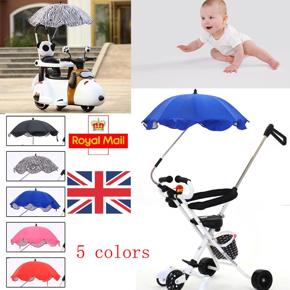 Kids Child Tricycle Baby Car Pram Buggy Sun Shield Umbrella Canopy Rain Cover UK