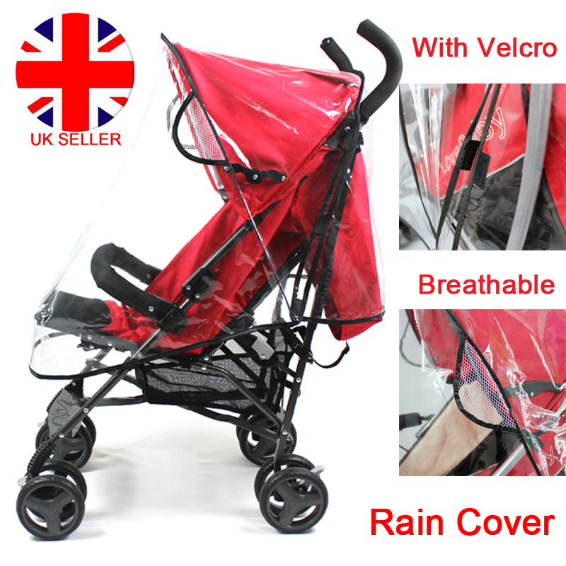 Universal Pushchair Rain Cover Raincover For Buggy Stroller Pram Baby Car UK