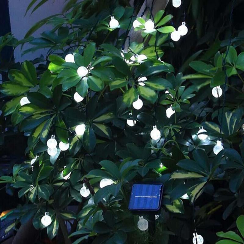 Uk Led Solar Fairy Patio Garden Lights String Outdoor