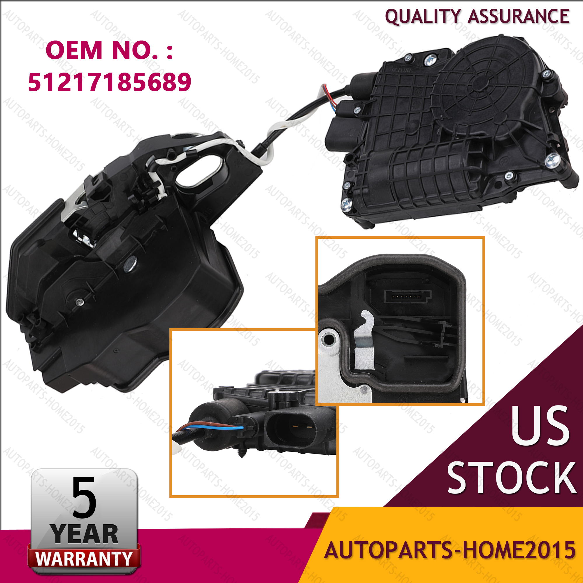 Front Left Soft Close Door Lock Actuator 51217185689 for BMW F10 F11 F02 F04