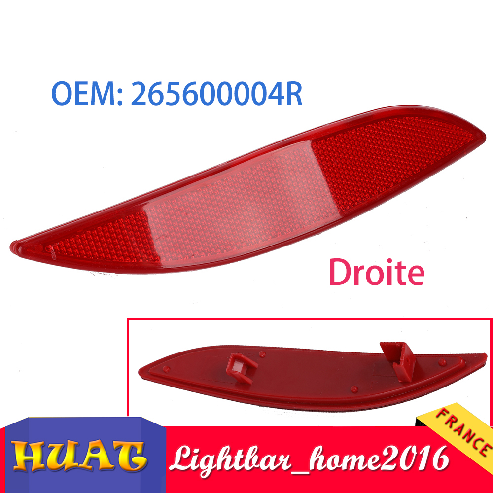 RENAUL CATADIOPTRE AVD PARE CHOC FLUENCE MEGANE III 265600004R