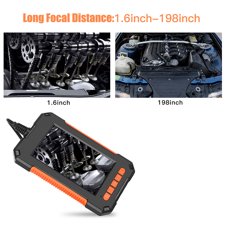 Endoskop mit 4.3/'/' LCD Anzeige 1080P Inspektionkamera 8LED Rohrkamera Endoscope