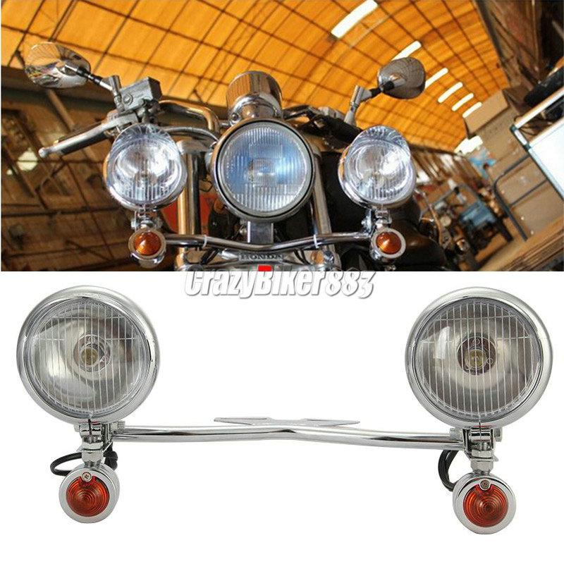 Passing Light Bar Spot Signal For Kawasaki Vulcan VN 800 750 1500 1600 1700 2000