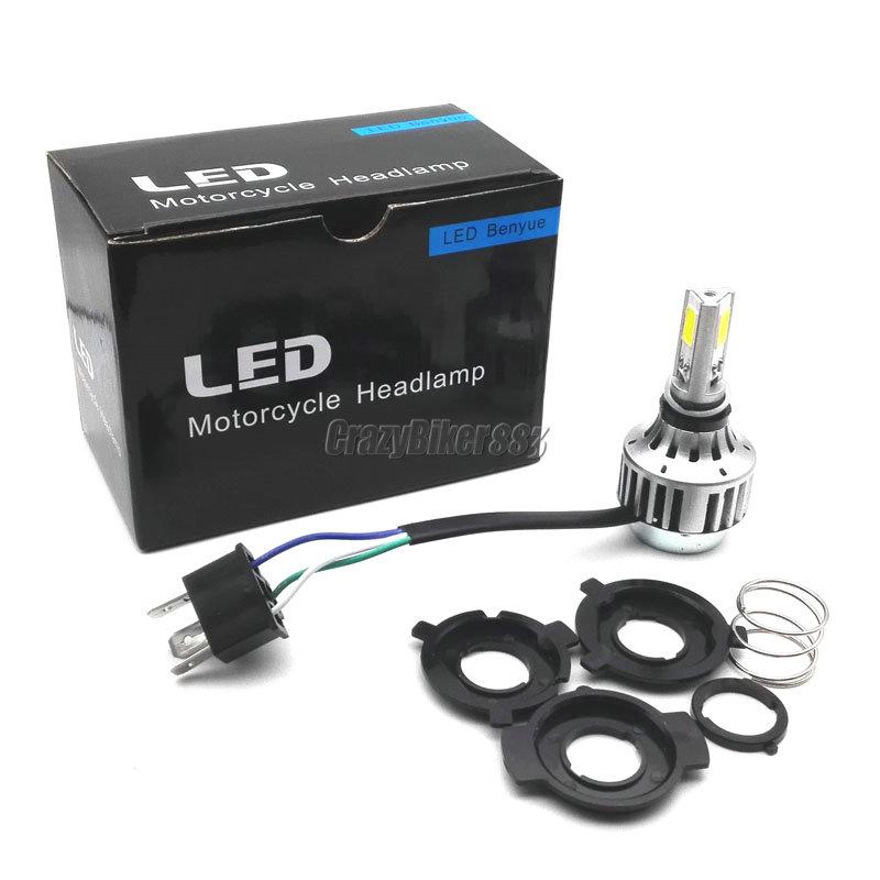 Headlight Assemblies Parts & Accessories H4 Hi-Lo Beam LED Headlight Bulb For Honda VT Shadow Spirit Ace 500 700 750 1100