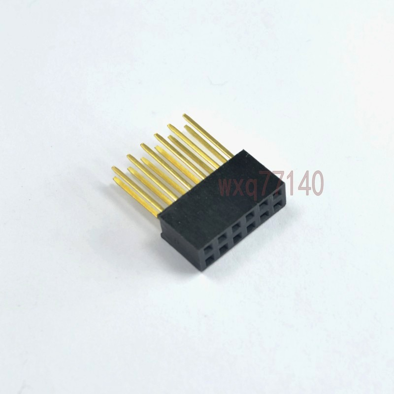 Integrated Circuits 10pcs 2x6 Pin 12p 2.54mm Double Row Female Straight Header Pitch Socket Strip Special Summer Sale Active Components